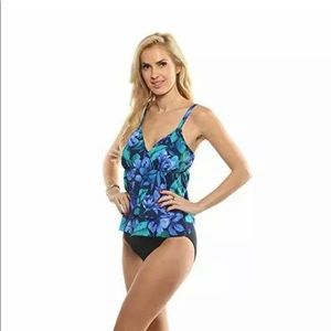 NWT MIRACLESUIT SHERIDAN  BLUE  449913 ONE-PIECE